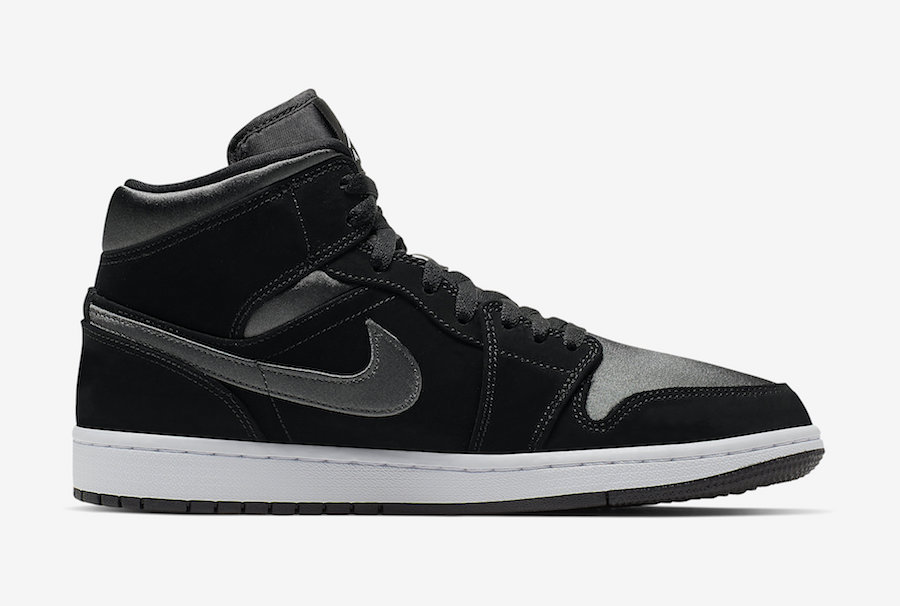 Air Jordan 1 Mid Black Grey 852542-012 Release Info
