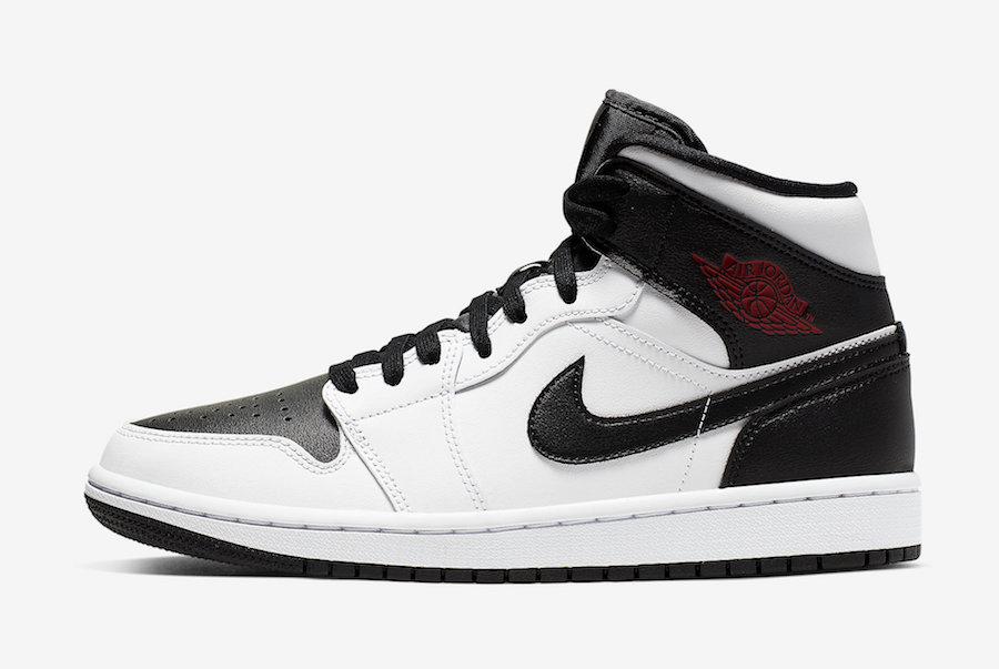 Air Jordan 1 Mid White Black Red BQ6472-101 Release Info