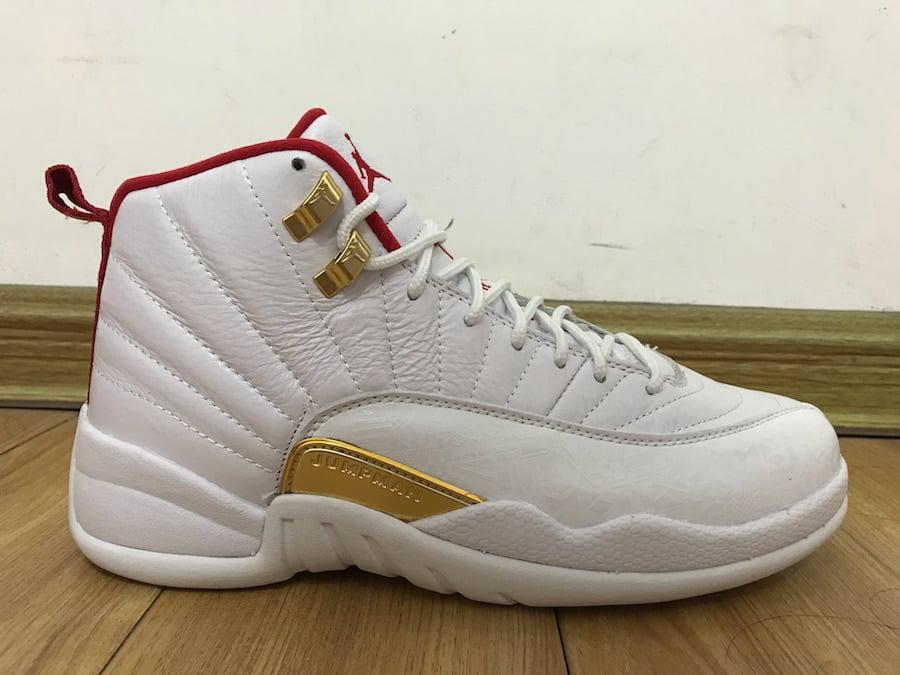 Air Jordan 12 FIBA White Red Gold