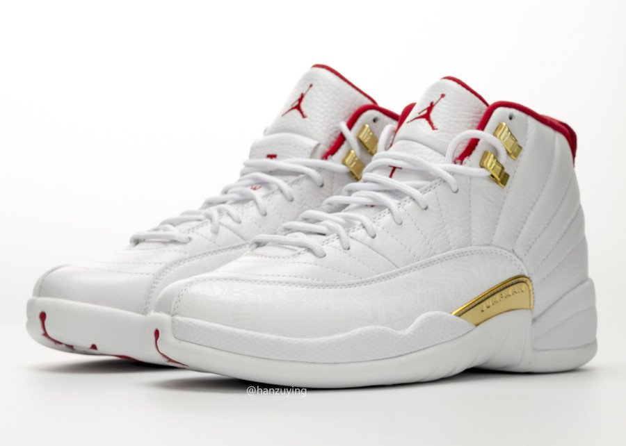 cheap for discount b1782 5aae1 Air Jordan 12 FIBA White Red Gold 130690-107 Release Date ...