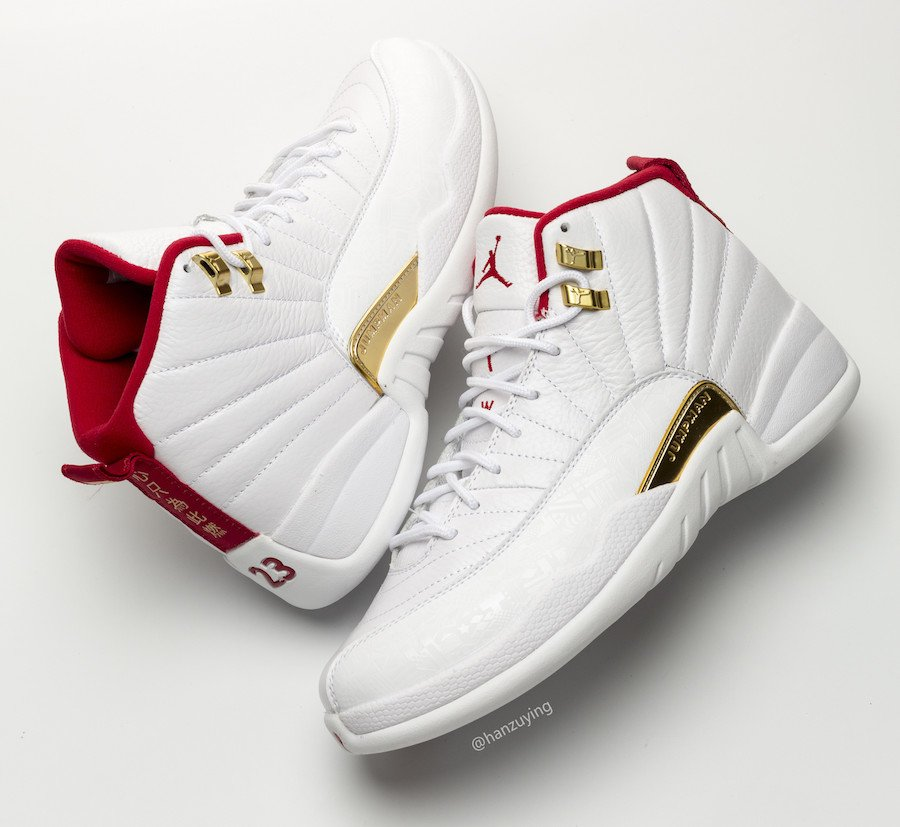 air jordan 12 fiba white university red