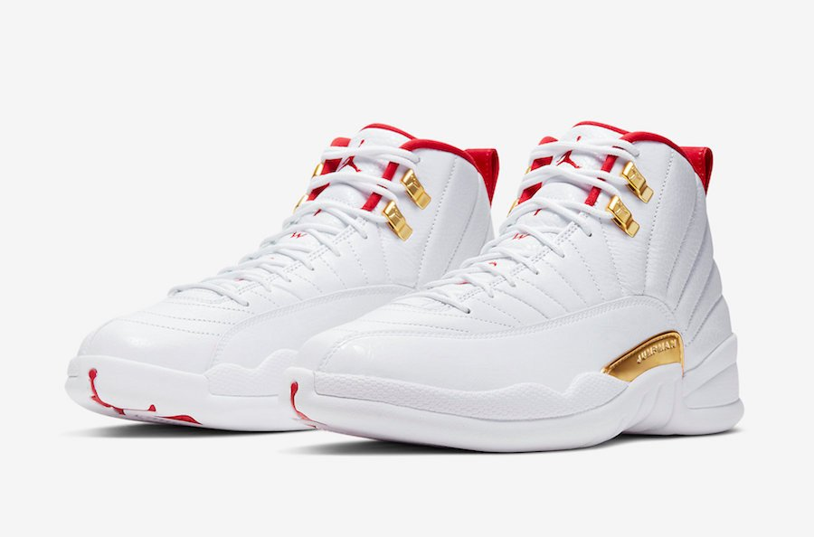 cheap for discount ef2da 16cfd Air Jordan 12 FIBA White Red Gold 130690-107 Release Date ...