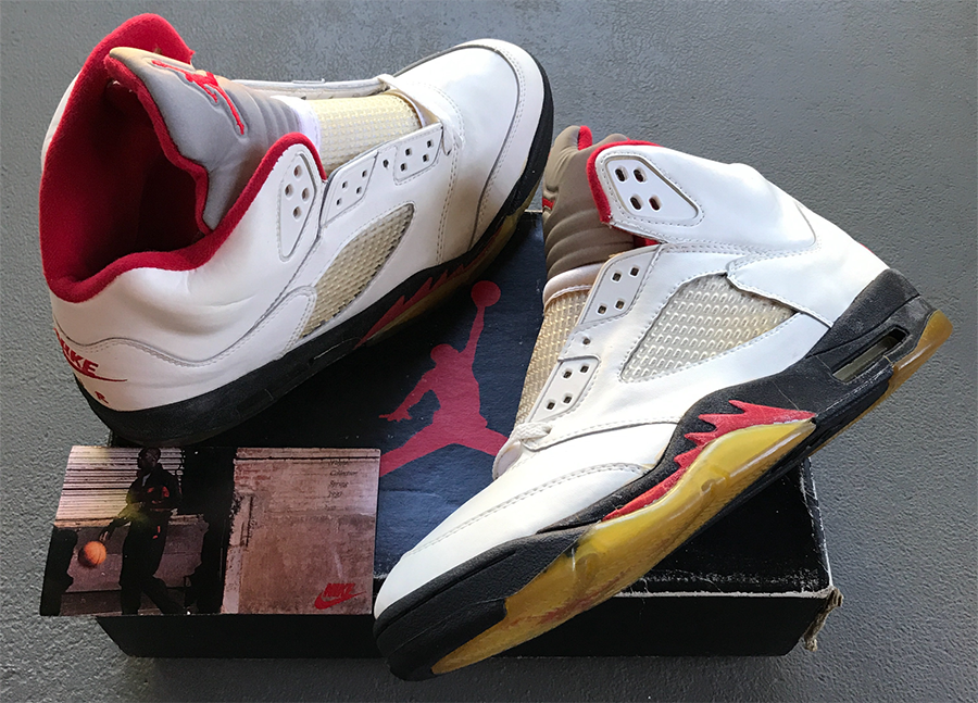 Air Jordan 5 Fire Red Silver Tongue 1990