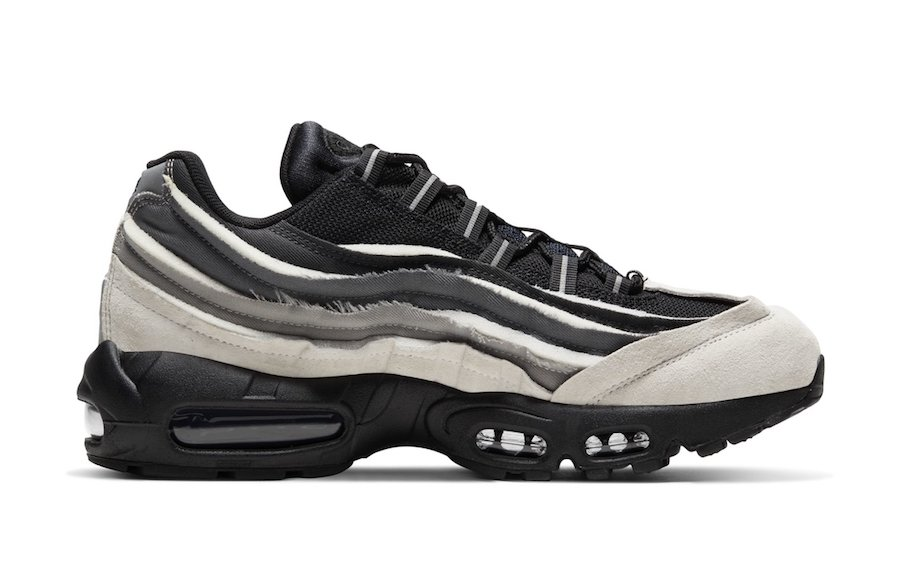 Comme des Garcons Nike Air Max 95 Black Grey Release Date Info