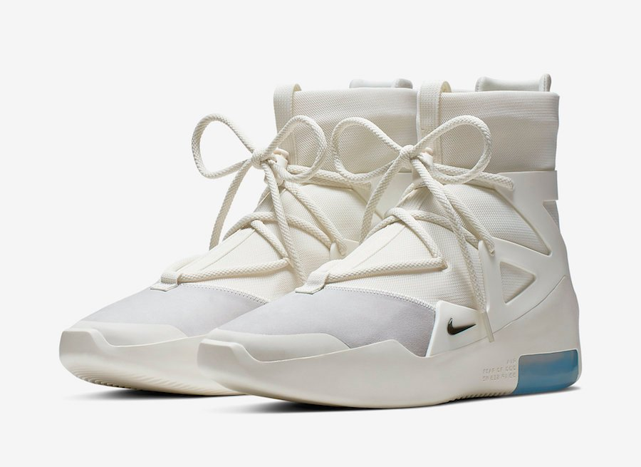 Nike Air Fear of God 1 Sail Black AR4237-100 Release Info