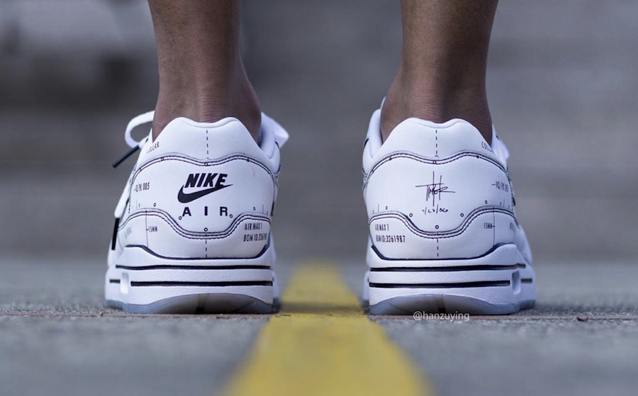 Nike Air Max 1 Tinker Schematic CJ4286-100 On Feet Release Info