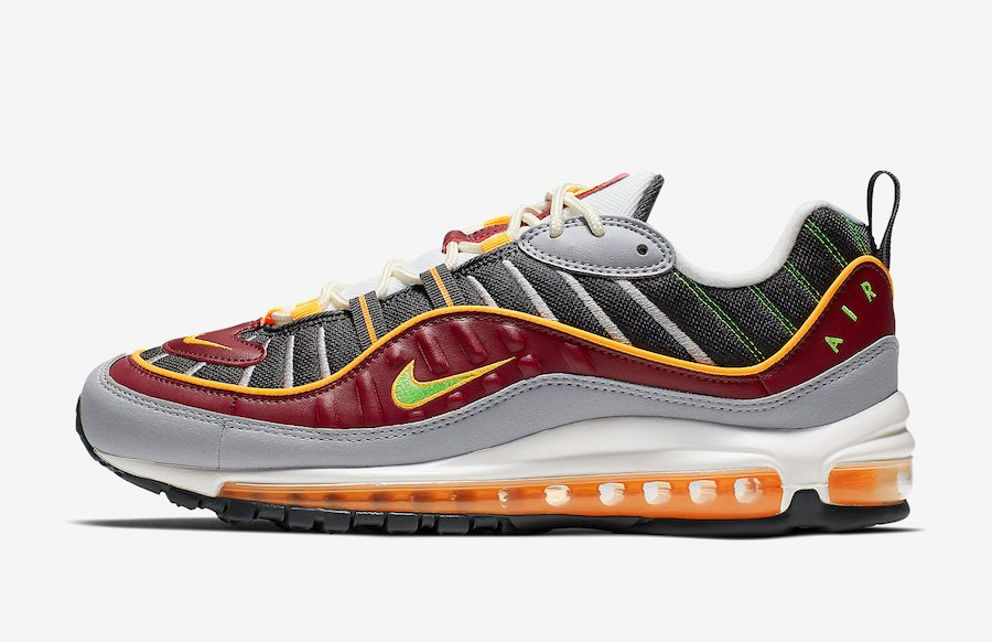 Nike Air Max 98 Team Red Green Strike 640744-603 Release Info