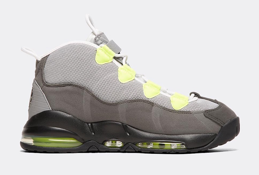 Nike Air Max Uptempo 95 Black Volt Dust Dark Pewter Release Date Info