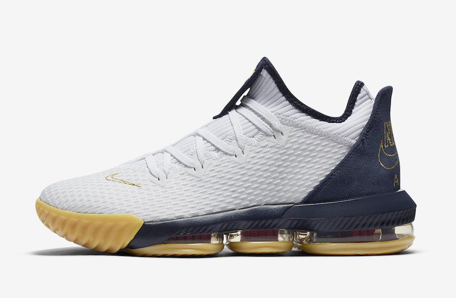 Nike LeBron 16 Low Olympic USA CI2668-101 Release Date Info