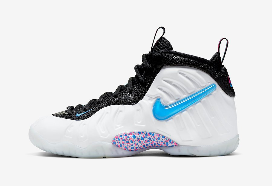 Nike Little Posite Pro 3D White Blue Hero Red Orbit 644792-102 Release Date Info
