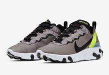 Nike React Element 55 Pumice Volt BQ6166-201 Release Info