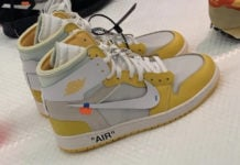 Off-White Air Jordan 1 Yellow Sample