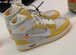 Off-White Air Jordan 1 Yellow Sample