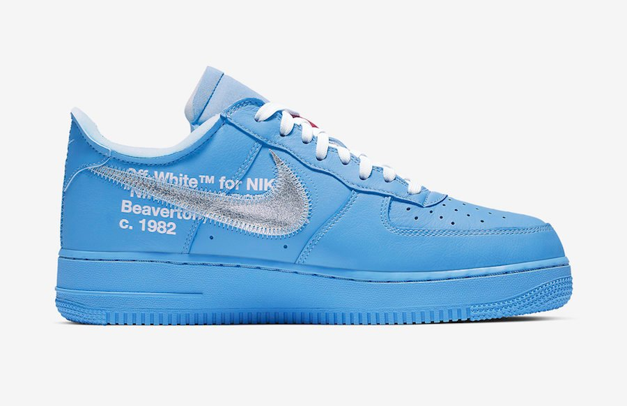 Off-White Nike Air Force 1 Low MCA Chicago CI1173-400 Release Info