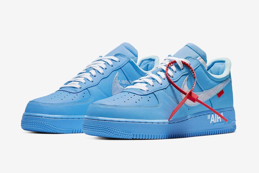 martes conveniencia Desagradable  Off-White Nike Air Force 1 Low MCA University Blue CI1173-400 ...