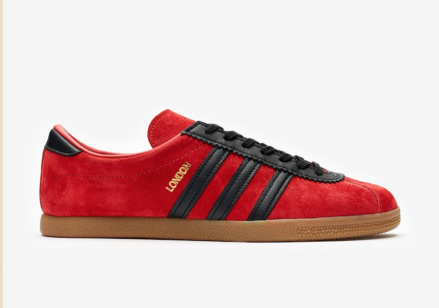 adidas City Series London Red Suede EE5723 Release Date Info