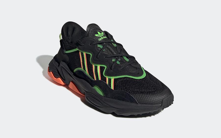adidas Ozweego Black Orange Green EE5696 Release Date Info