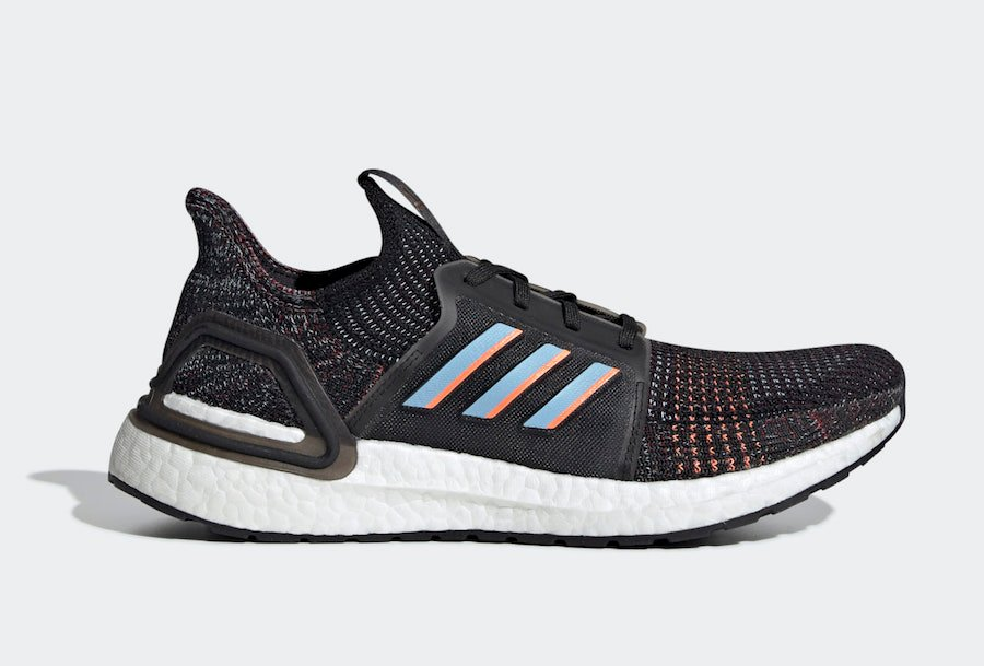 adidas Ultra Boost 2019 Black Glow Blue Coral G54011 Release Date Info