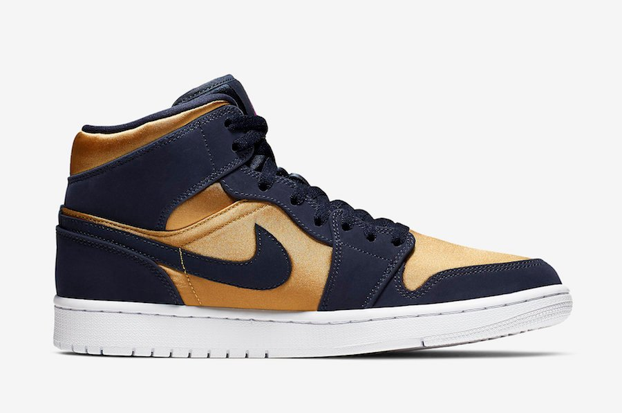 Air Jordan 1 Mid Stain Gold 852542-401 Release Date Info