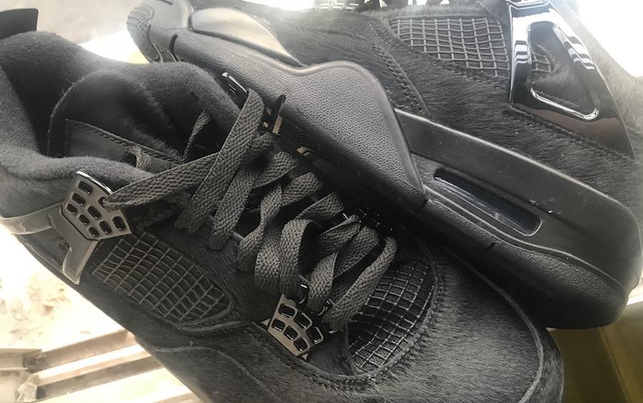 Air Jordan 4 Black Cat Pony Hair 2020