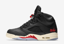 Air Jordan 5 Black Muslin Fire Red CT8480-001 Release Date Info