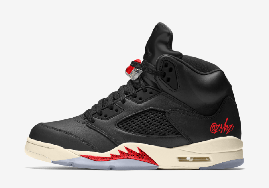 Air Jordan 5 Black Muslin Fire Red CT8480-001 Release Date Info