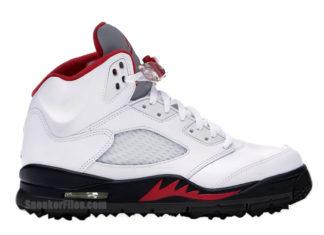 Air Jordan 5 Golf Fire Red CD3100-100 Release Date Info