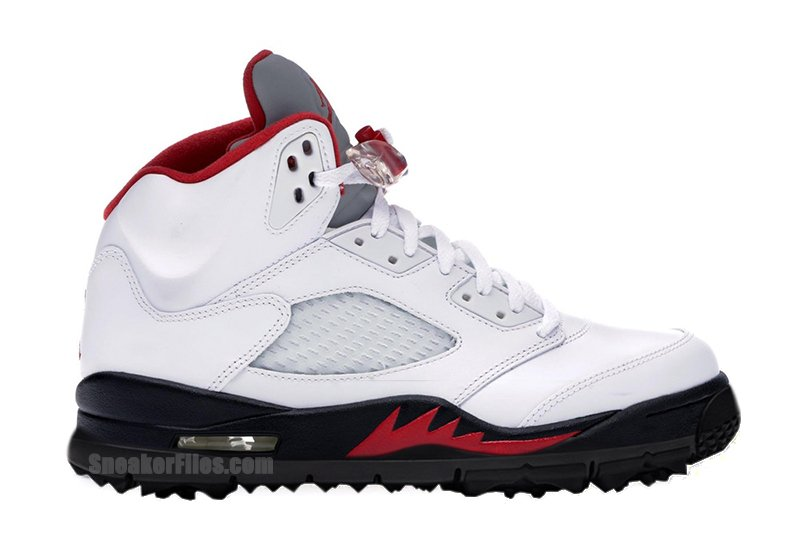 Air Jordan 5 Golf Fire Red CD3100-100 Release Date Info   SneakerFiles
