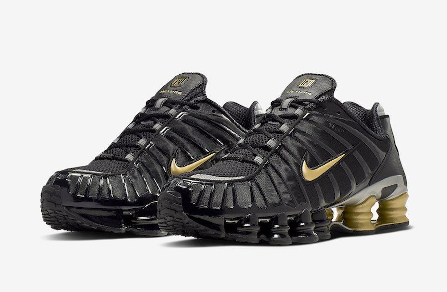 Neymar Nike Shox TL Black Gold BV1388-001 Release Date Info | Gov