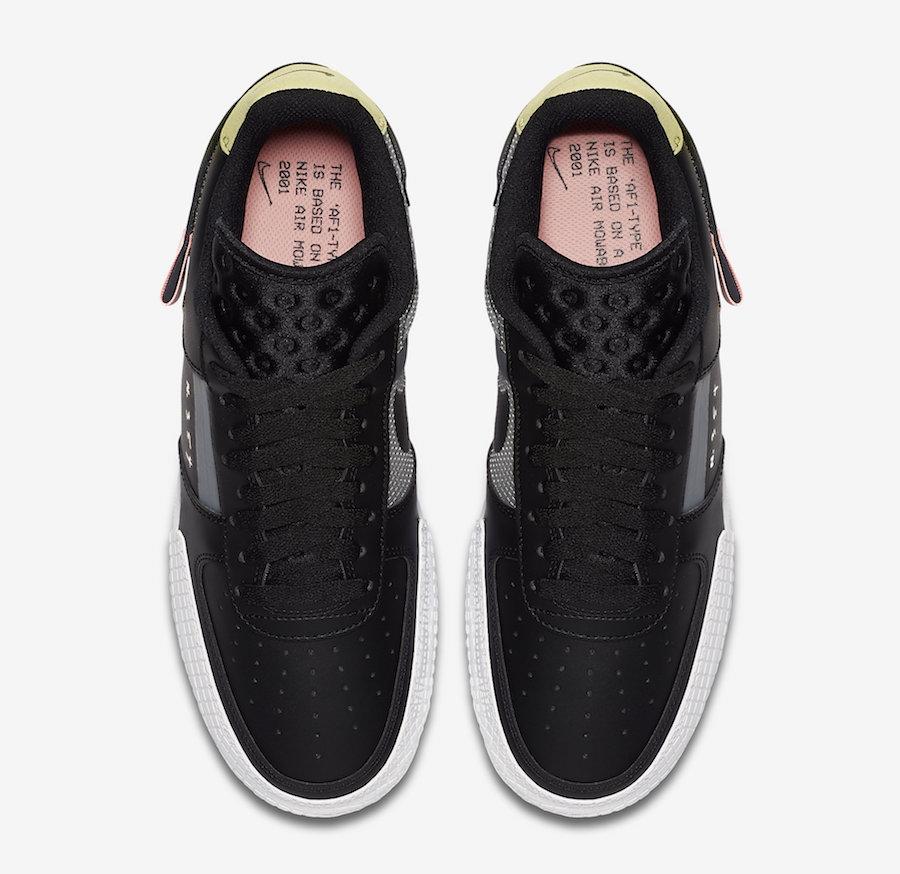 Nike AF1 Type Black CI0054-001 Release Date