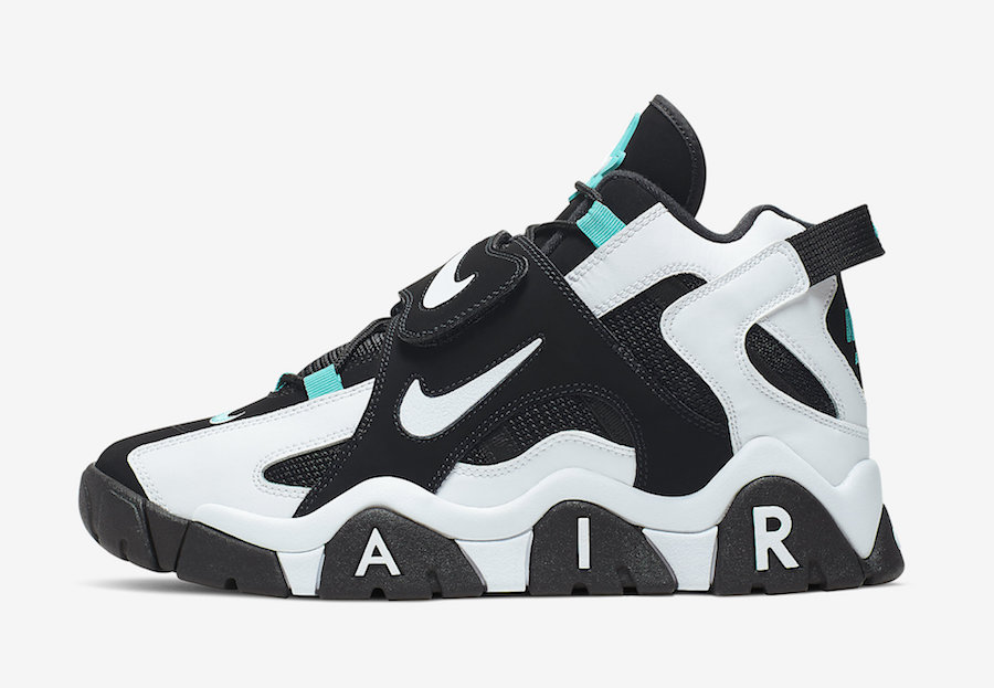 Nike Air Barrage Mid Black White Cabana AT7847-001 Release Date Info