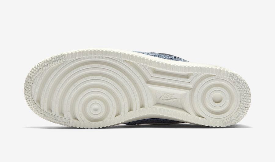 Nike Air Force 1 Flyknit 2.0 Ocean Fog CI0051-400 Release Date Info