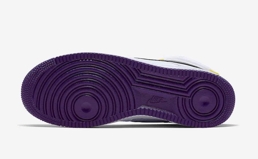 Nike Air Force 1 High White Court Purple CI1117-100 Release Date Info
