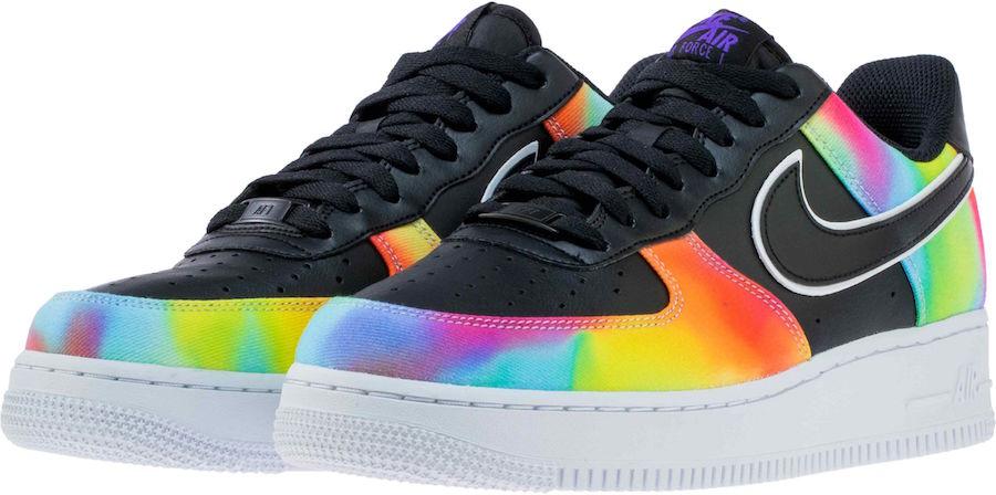 Nike Air Force 1 Low Black Tie Dye CK0840-001 Release Date Info