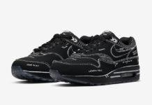 Nike Air Max 1 Tinker Black Schematic Sketch To Shelf CJ4286-001 Release Date Info