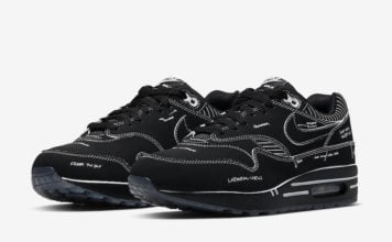 Nike Air Max 1 Tinker Black Schematic Sketch To Shelf CJ4286-001 Release Date Info
