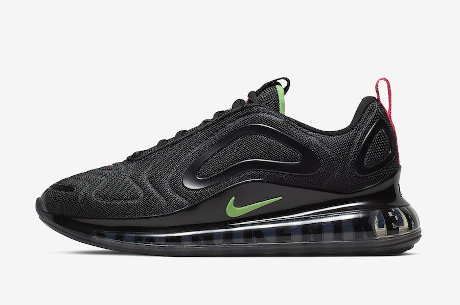 Nike Air Max 720 Black Pink Green CQ4614-001 Release Date Info