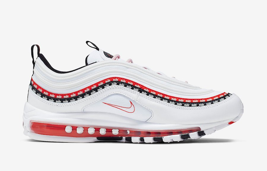 nike air max 97 white university red multicolor