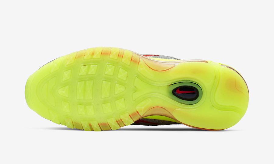 Nike Air Max 97 Silver Red Volt BQ8437-002 Release Date Info