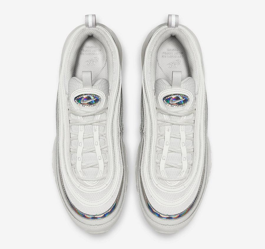 Nike Air Max 97 White Silver Iridescent CJ9706-100 Release Date Info