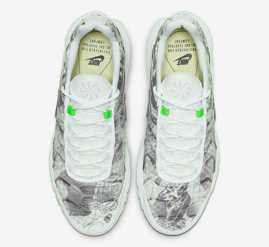 air max plus white and green