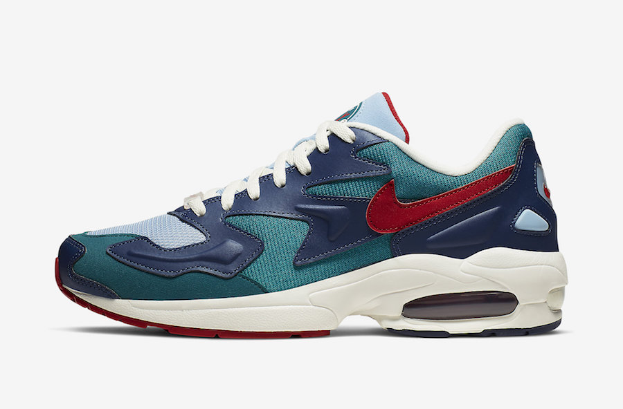 Nike Air Max2 Light Blue Teal Red CK2958-361 Release Date Info