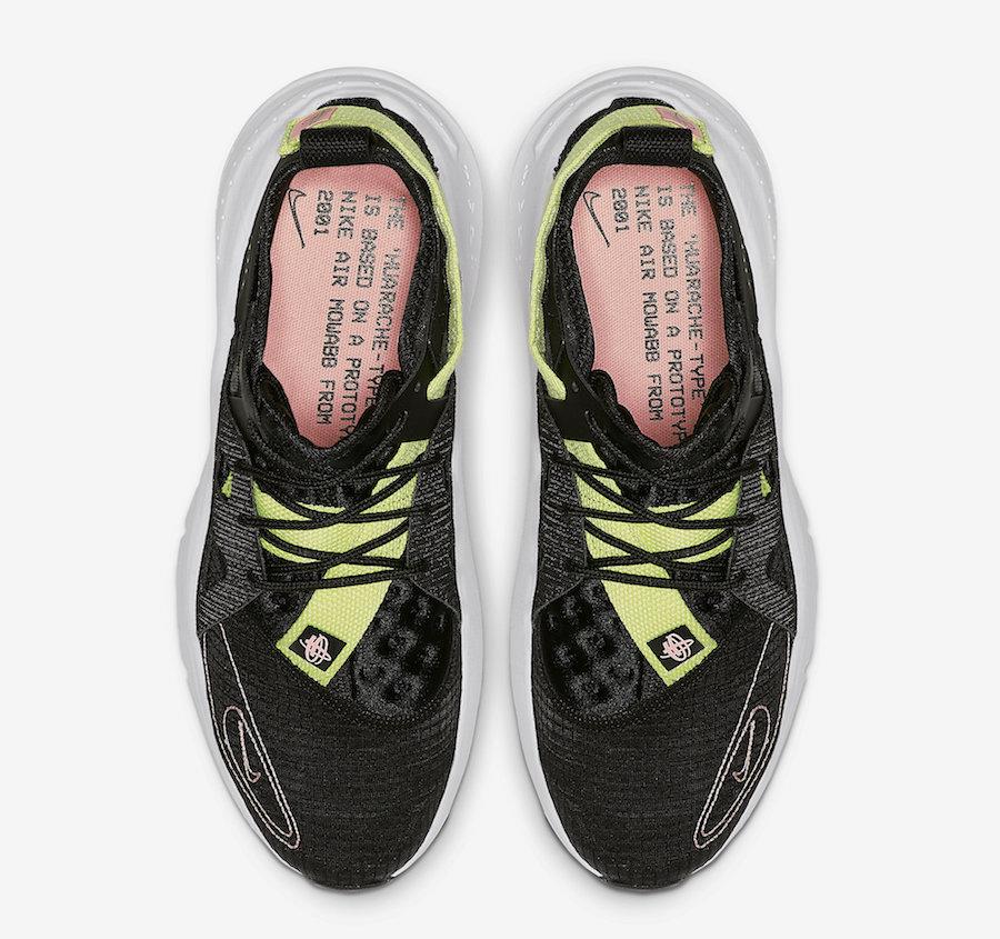 Nike Huarache Type Black Pink Tint BQ5102-001 Release Date Info
