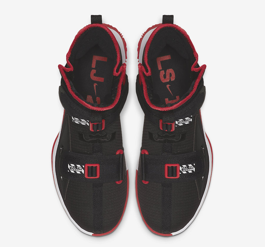 Nike LeBron Soldier 13 Bred Black Red White AR4228-003 Release Date Info