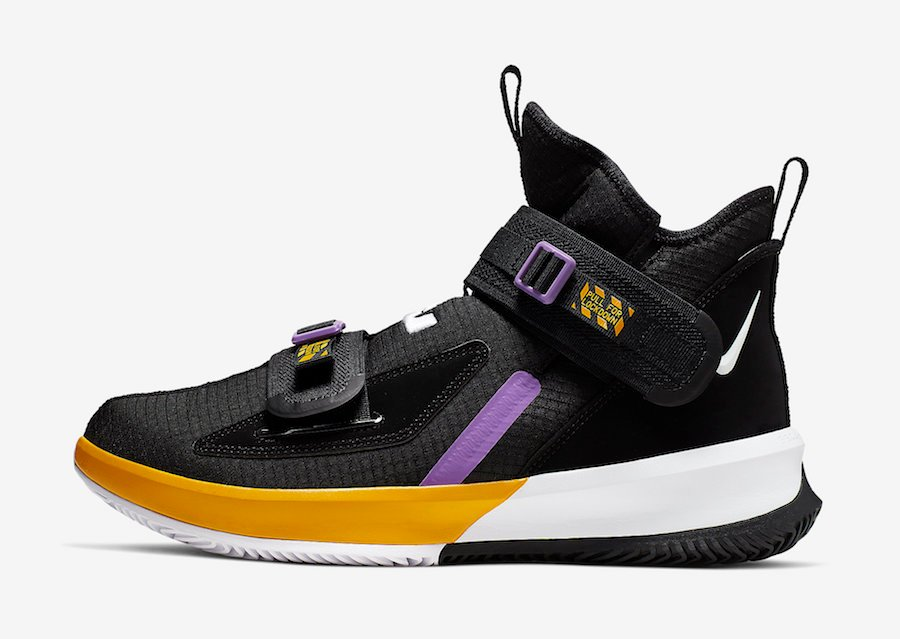 Nike LeBron Soldier 13 Lakers AR4228-004 Release Date Info