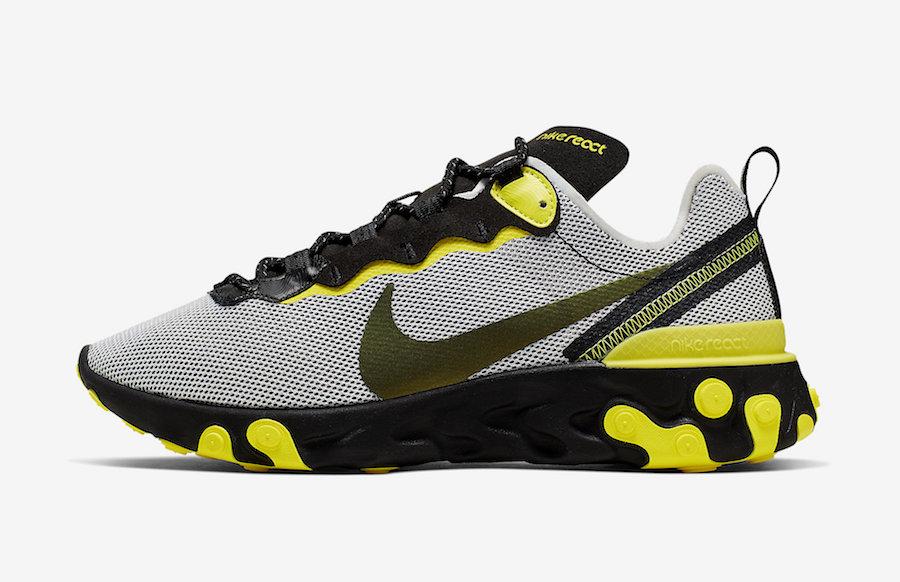 Nike React Element 55 Dynamic Yellow CK1686-001 Release Date Info