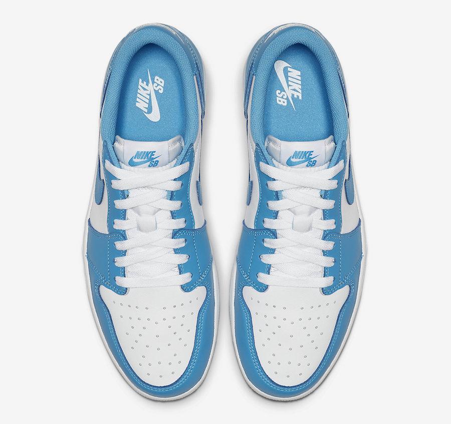 Nike SB Air Jordan 1 Low UNC CJ7891-401 Release Date Info