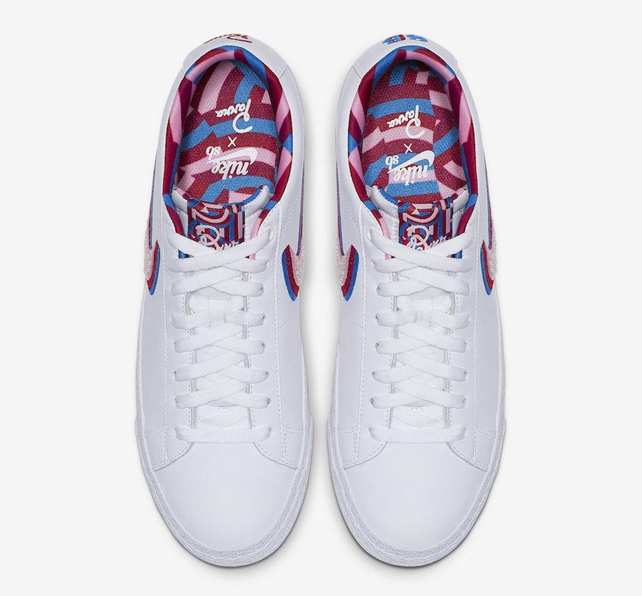 Parra Nike SB Blazer Low CN4507-100 Release Info
