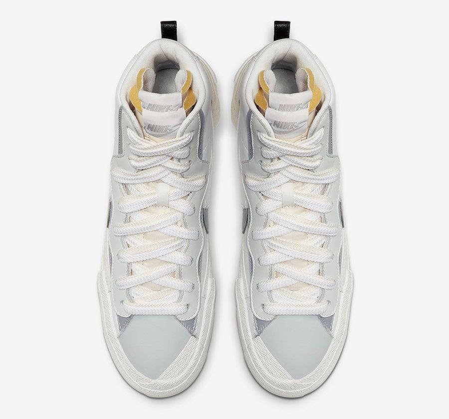 Sacai Nike Blazer Mid White Wolf Grey BV0072-100 Release Date Info