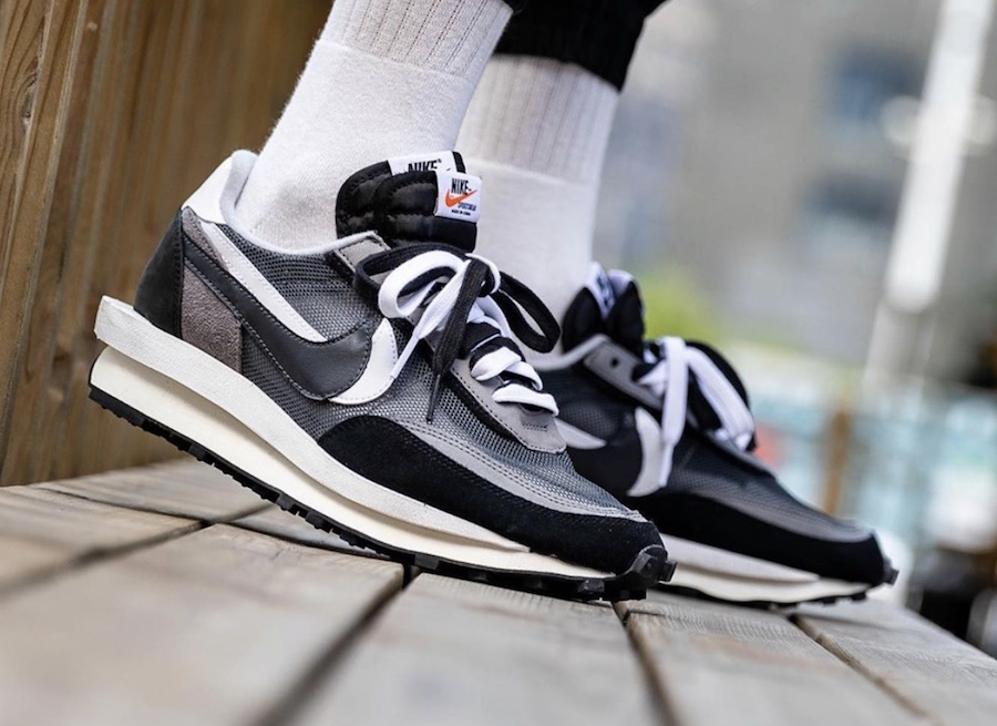 Sacai Nike LDWaffle Black Anthracite White BV0073-001 Release Date Info